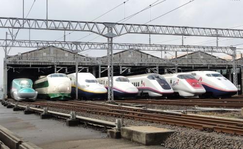 Trenes bala Shinkansen en Japón