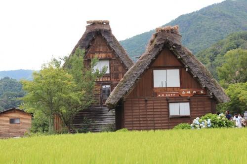 Casas de madera tradicionales en Shirakawago