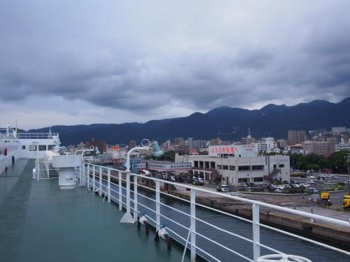 Exterior del ferry Sunflower, que realiza la ruta de Kansai a Kyushu.