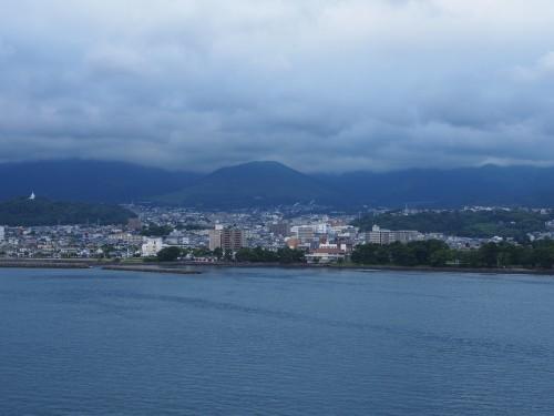 Vistas desde el ferry Sunflower, de Kansai a Kyushu.