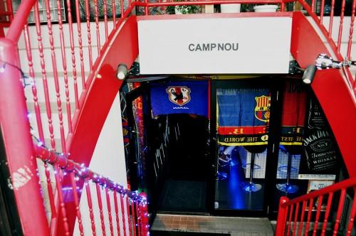 Bar Camp Nou del barrio de Ota, en Tokio