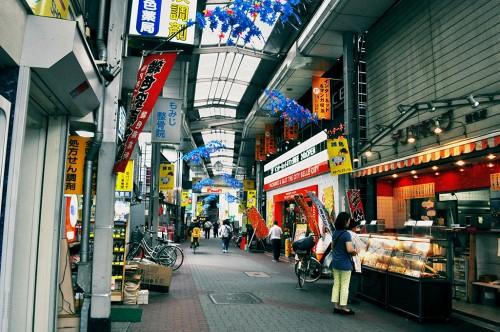 Zoshiki Arcade, barrio tradicional en Ota-ku, Tokio. Los barrios tradicionales pueden provocar un shock cultural