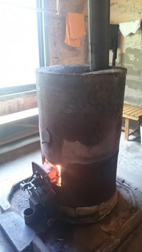 Estufa dentro de un onsen en Bppu Jigoku, Oita.