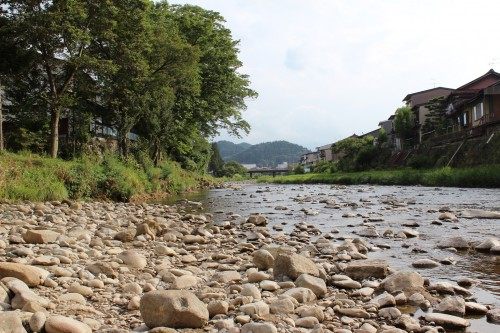 Río de Takayama, en Gifu (Japón)