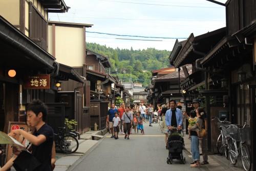 Calles de Takayama, en Gifu (Japón)