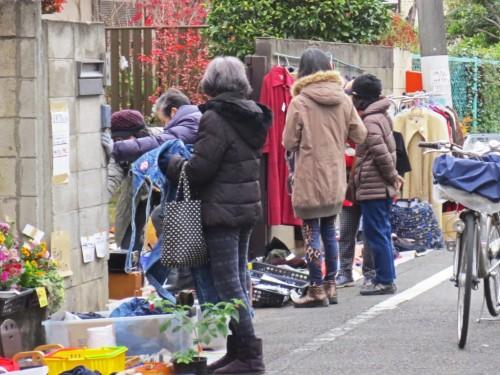 Mercadillo de segunda mano en Japón.