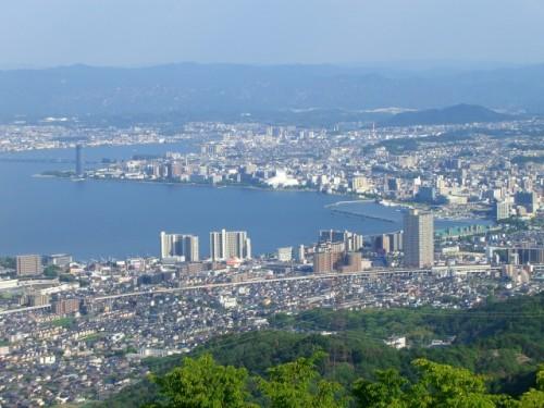 Vistas de Kioto desde la cima del monte Hiei.