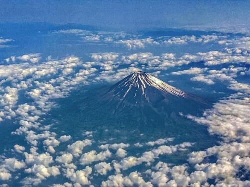 Vista aérea del Monte Fuji