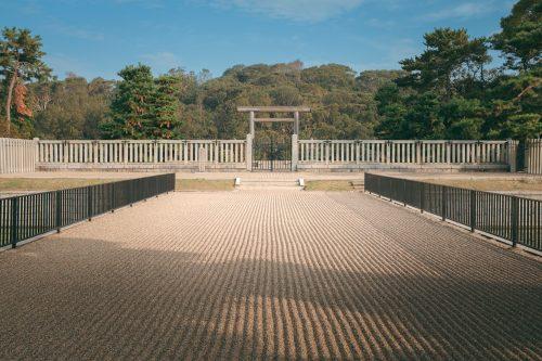 La tumba del emperador Nintoku, Sakai, Osaka, Japón.
