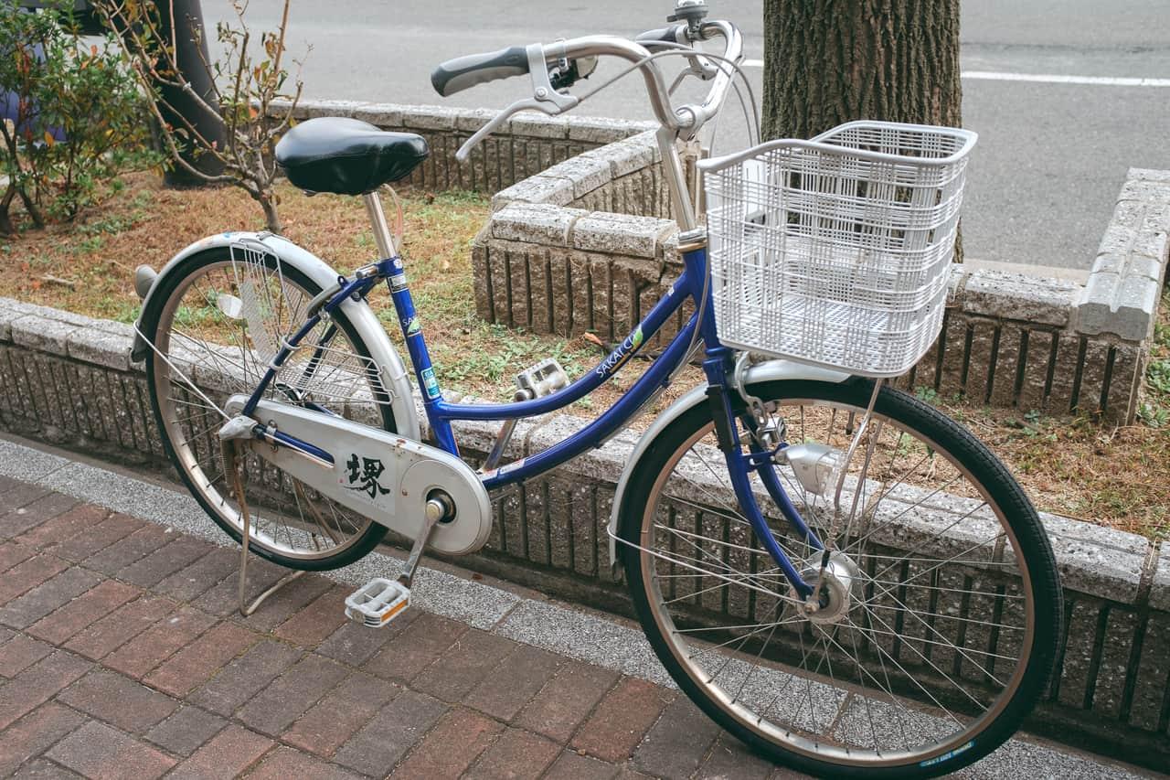 Una bicicleta de alquiler de Shimano