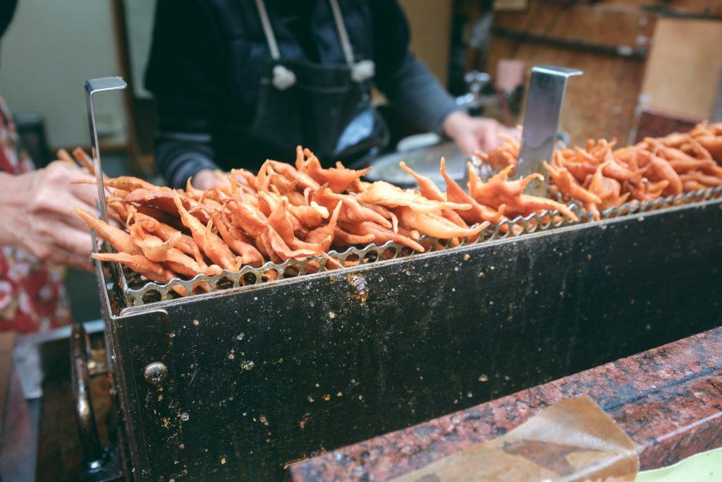 Momiji tempura, especialidad en el Monte Mino