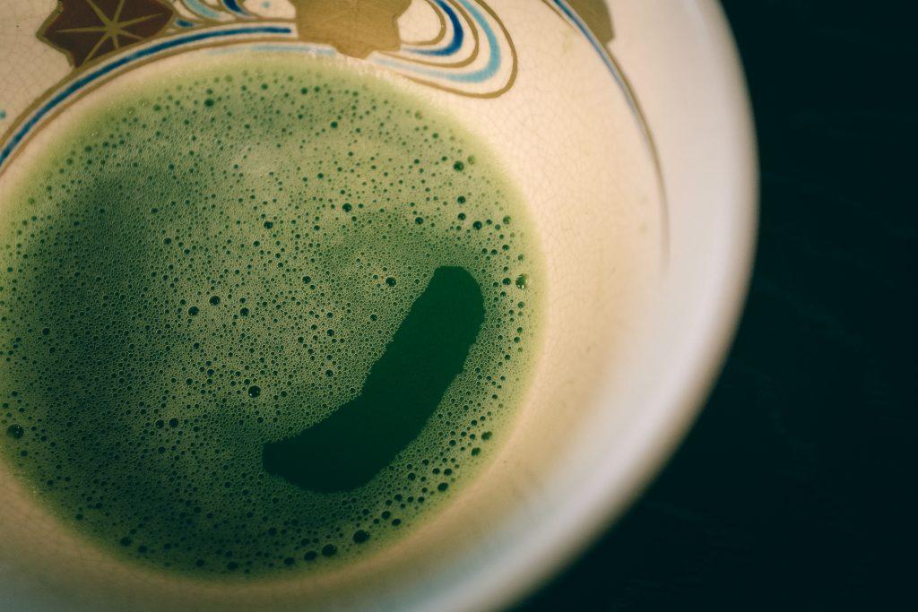 Detalles del té matcha en Sakai