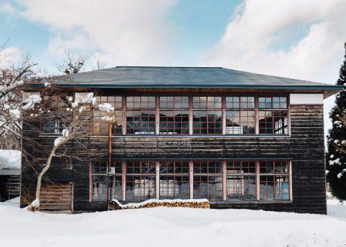 Escuela de Omoide-no-kata en Tazawako, Akita, región de Tohoku, Japón.