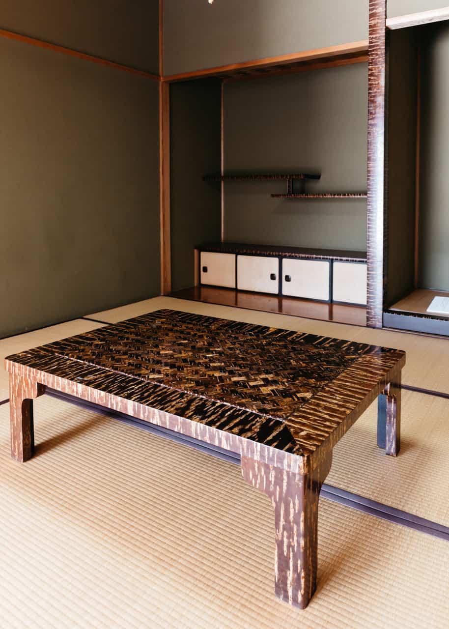 Muebles de madera de cerezo de Akita