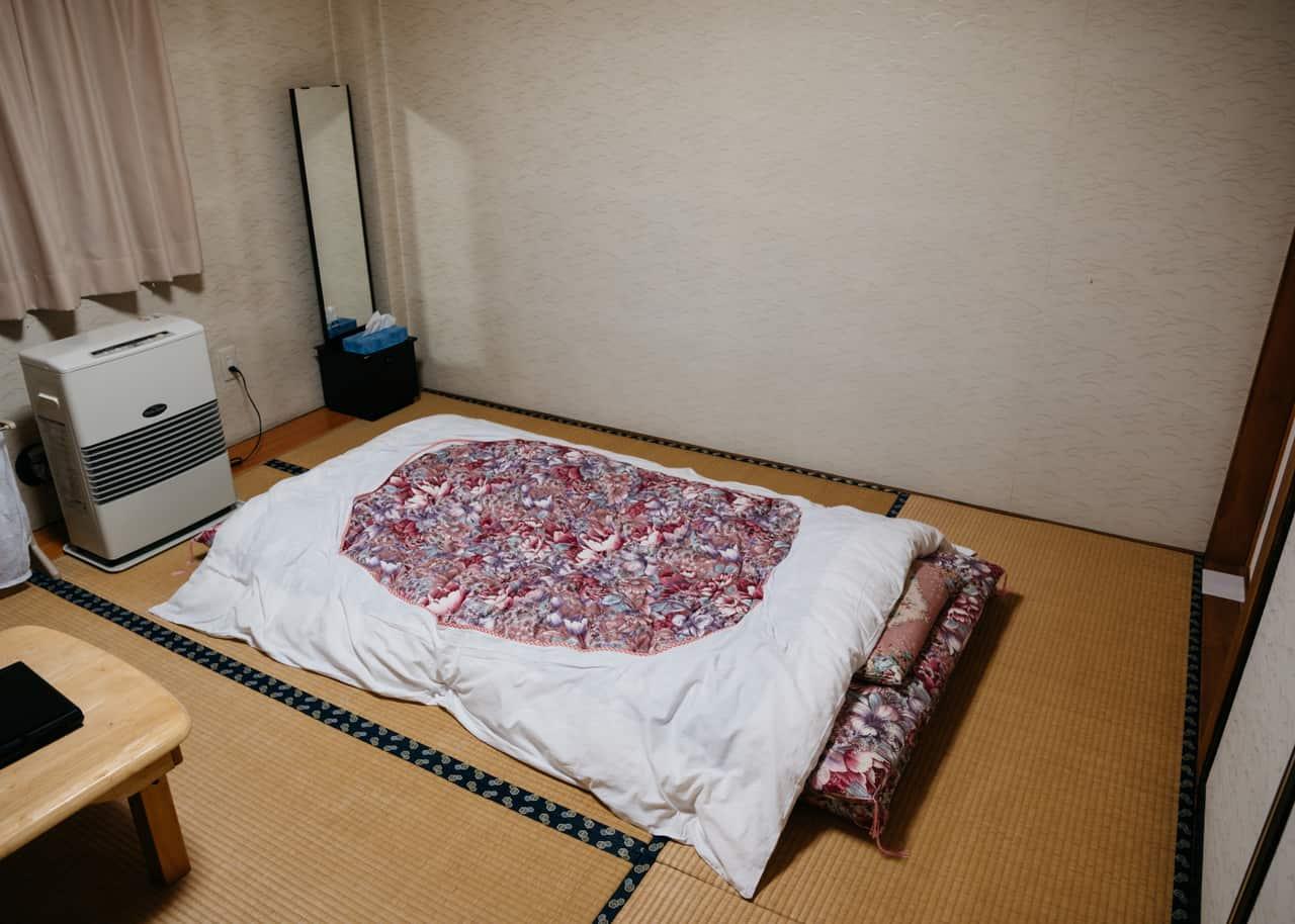 La habitación del alojamiento en Semboku, Akita
