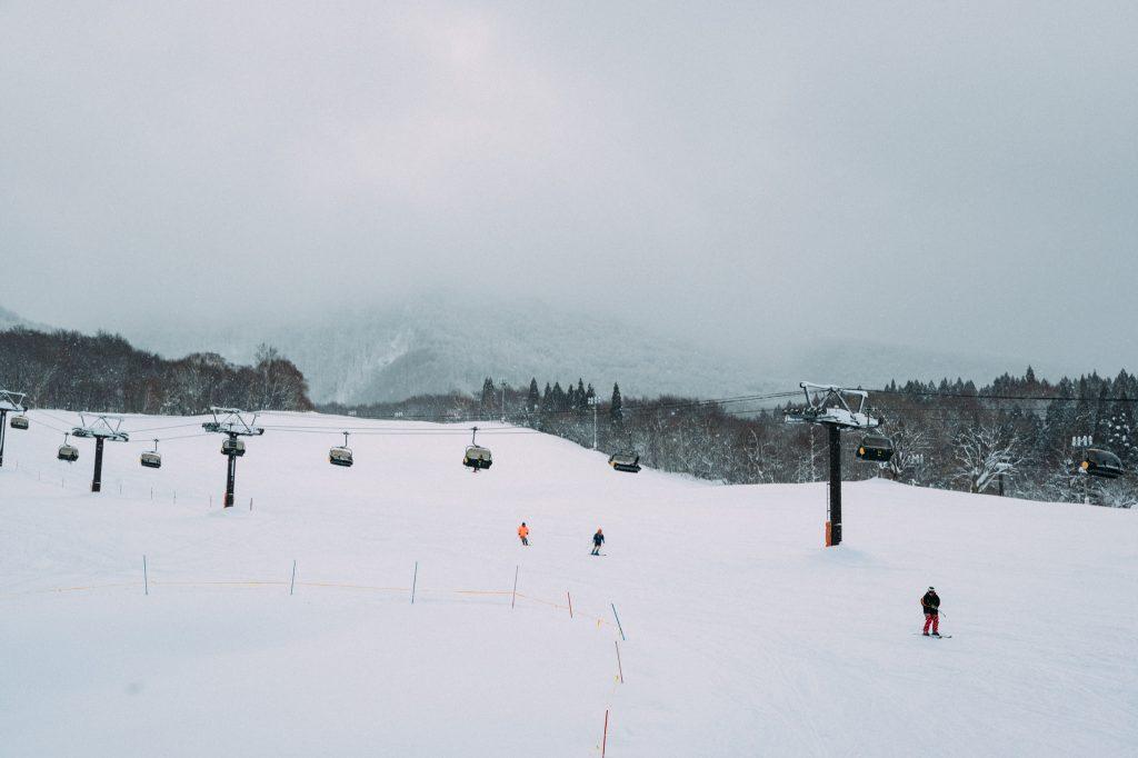 Las pistas de esquí con nieve polvo japonesa
