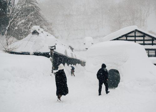 Un Día de Nieve al Onsen Tsurunoyu. Onsen Nyuto, Akita, Tohoku, Japón.