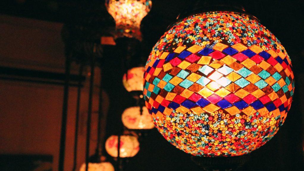 Lámparas de la tienda turca