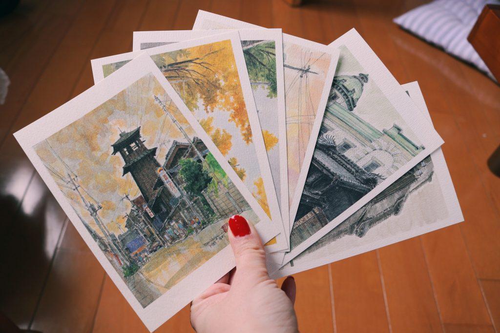 Las postales que ilustraban Kawagoe