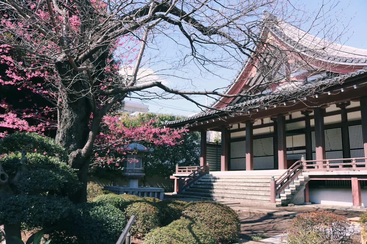 El templo en Koenji, Tokio