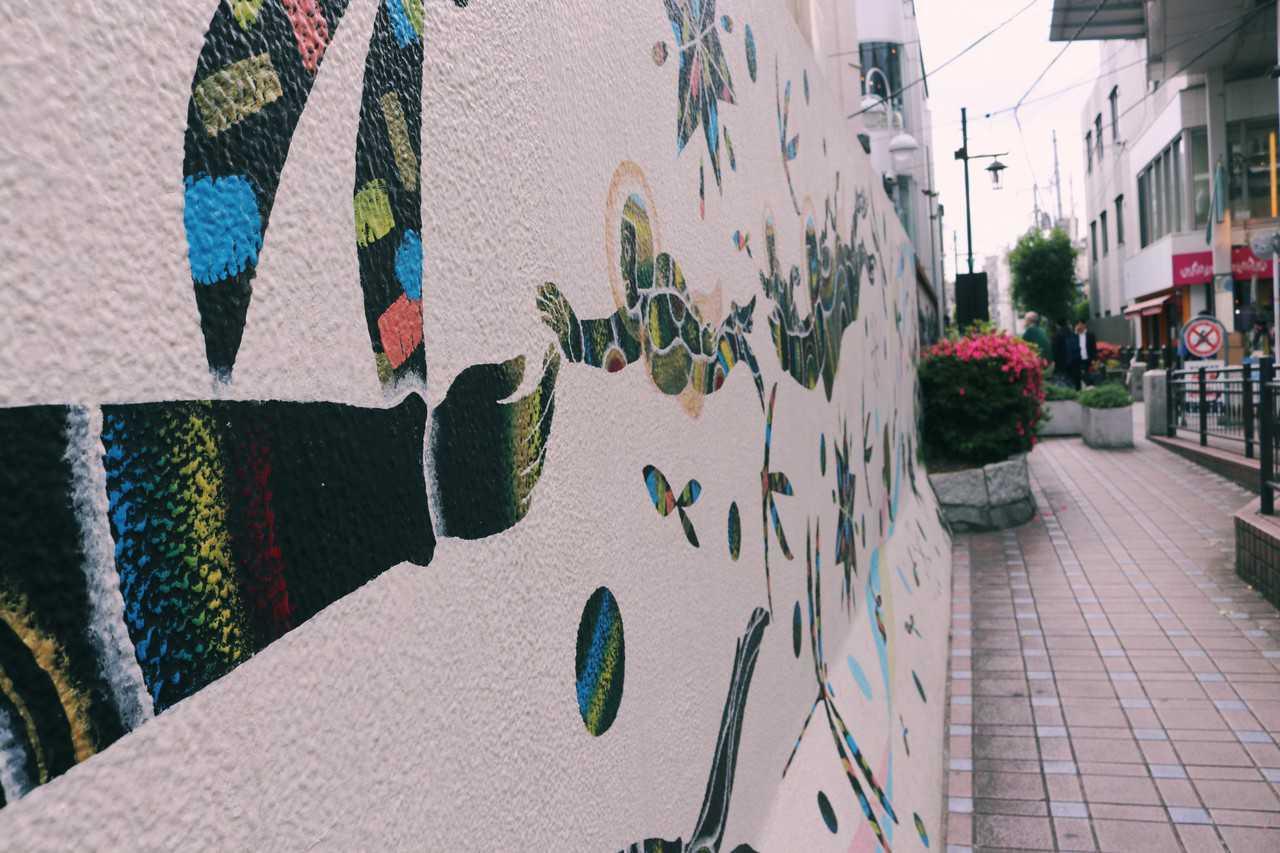 Arte en las paredes de Koenji