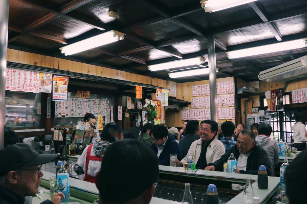 Marumasuya en el interior en Akabane