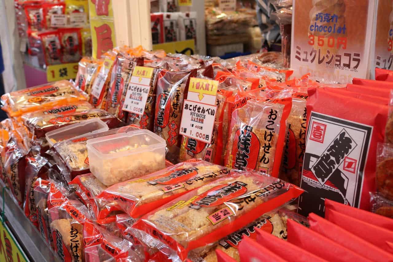 Senbei, un snack típico en Asakusa