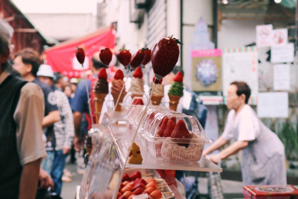 Un daifuku de anko y fresa