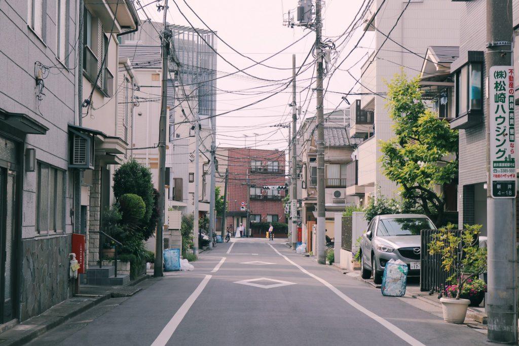 Una de las calles residenciales de Nakano
