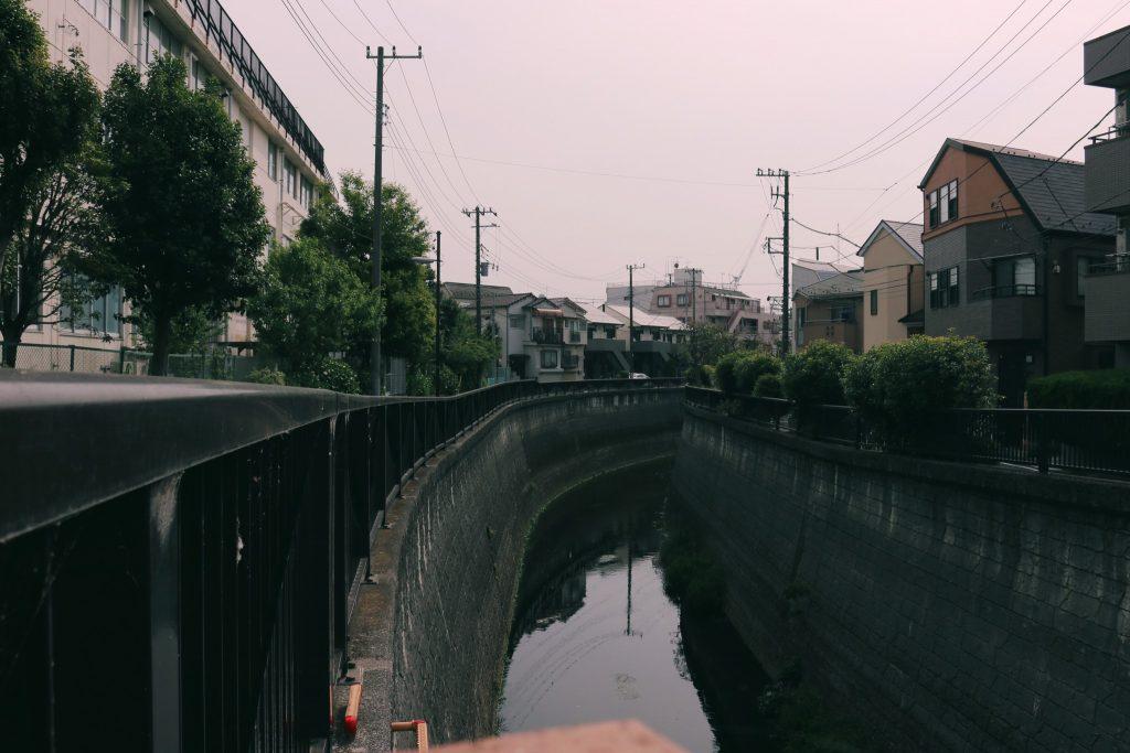 Un canal en el barrio de Nakano