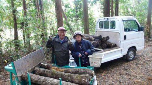 Granjeros en Kitsuki, Nakayamaga, isla de Kyushu, Japón