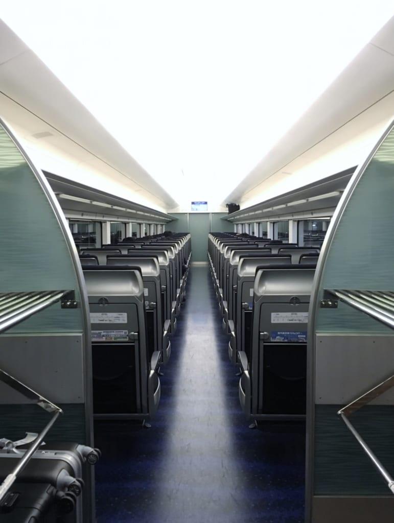 El interior del tren Skyliner