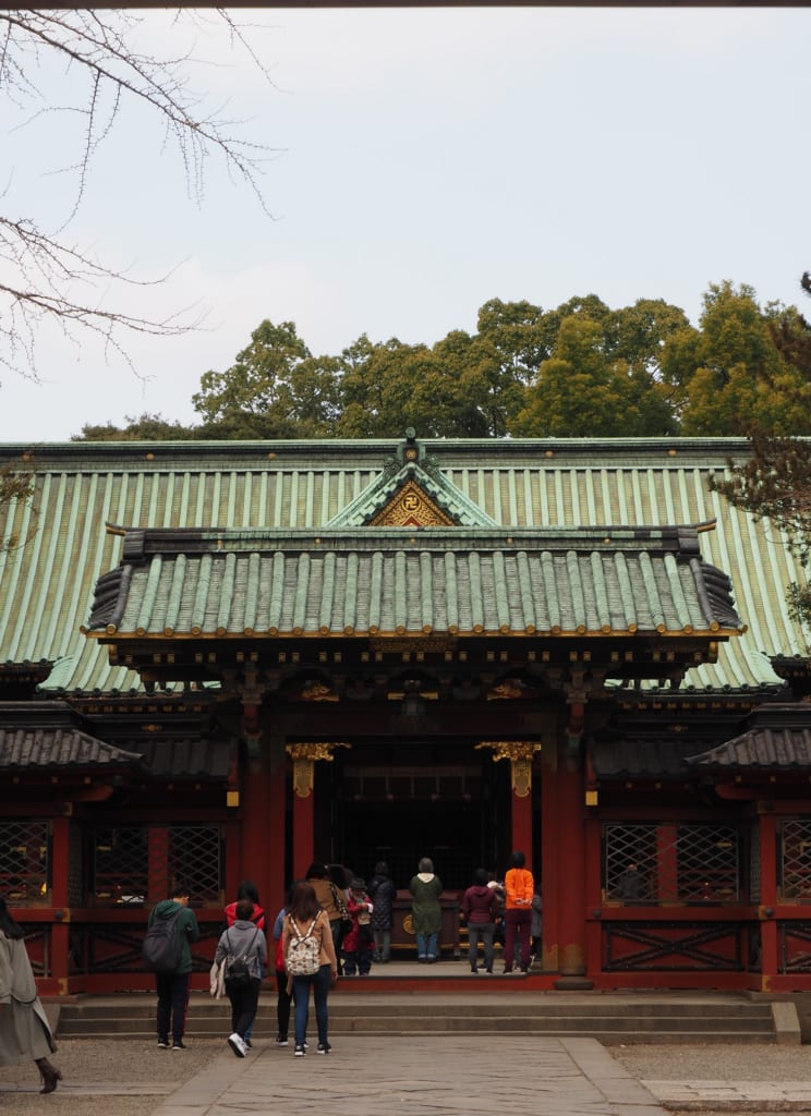 Edificio principal del santuario Nezu.