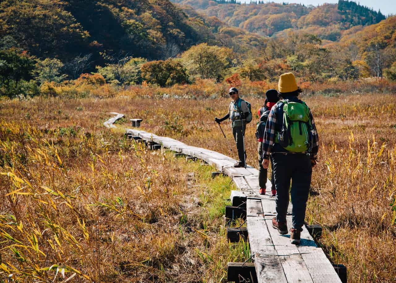 El pantano de Numabohara, el sendero de Shin-etsu, Nagano, Japón