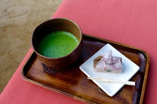Té verde en Korakuen, Okayama, Isla de Honshu, Japón
