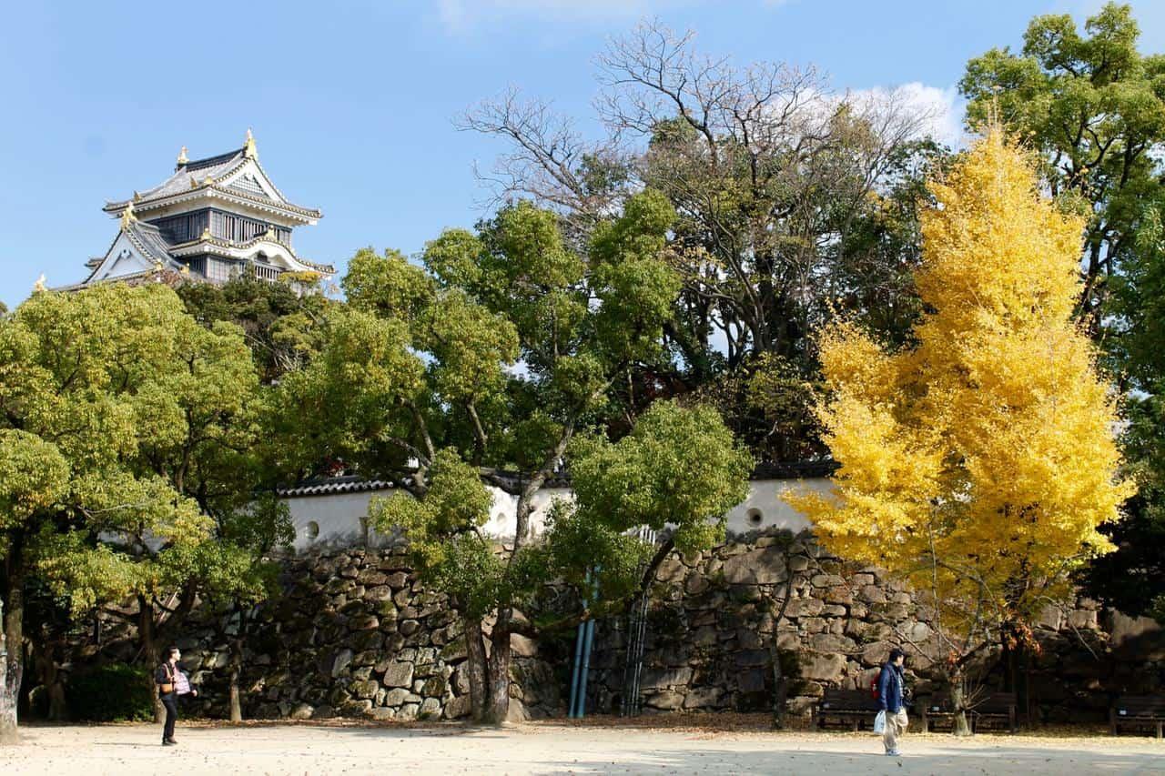 Descubre Korakuen y el castillo de Okayama durante el follaje otoñal