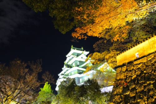 El castillo de Okayama, Okayama, Isla de Honshu, Japón
