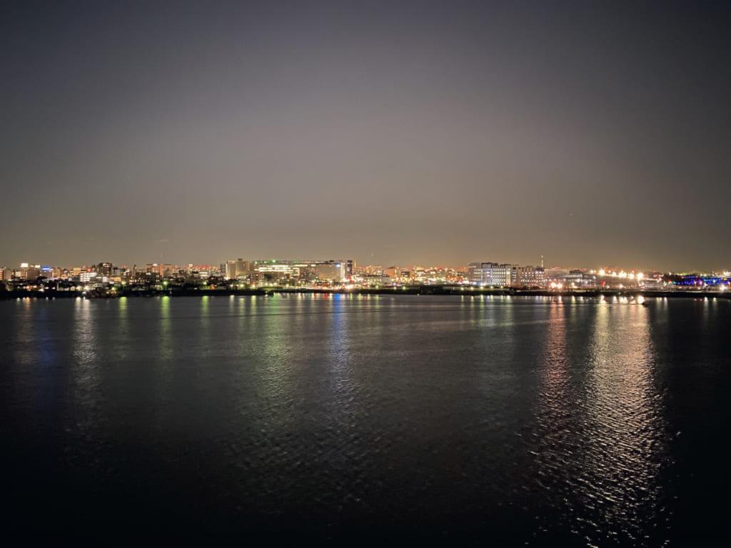 Vista Noctura desde el Capitain's Grill, Kawasaki, Kanagawa