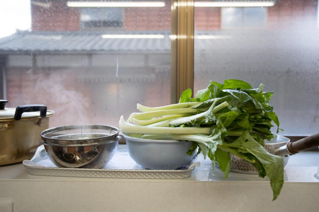 Vegetales en Iromusubi en Murakami, Niigata, Japón