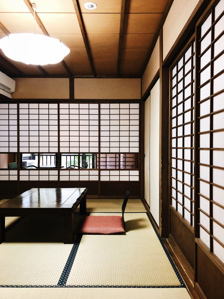 El Comedor del ryokan en el Kurokawa Onsen en Kumamoto, Kyushu, Japón