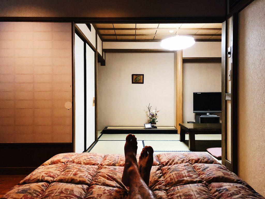 Mi alojamiento en el Kurokawa Onsen en Kumamoto, Kyushu, Japón