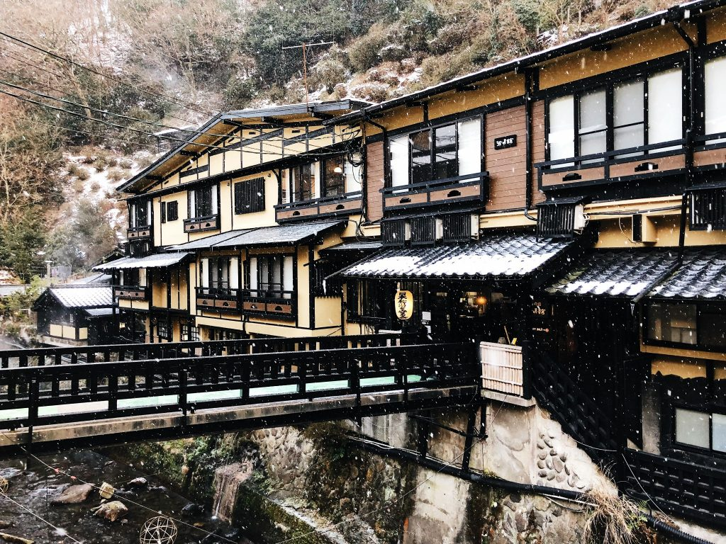 Casas del Kurokawa Onsen en Kumamoto, Kyushu, Japón