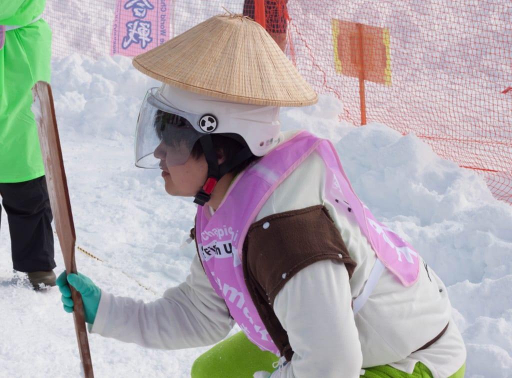 Pelea internacional de bolas de nieve de Koide en Niigata, Japón
