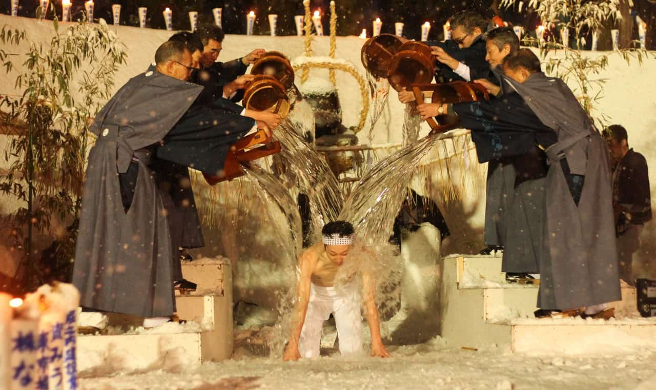 Vive, con mucha nieve, el Secchu Hanamizuiwai Festival