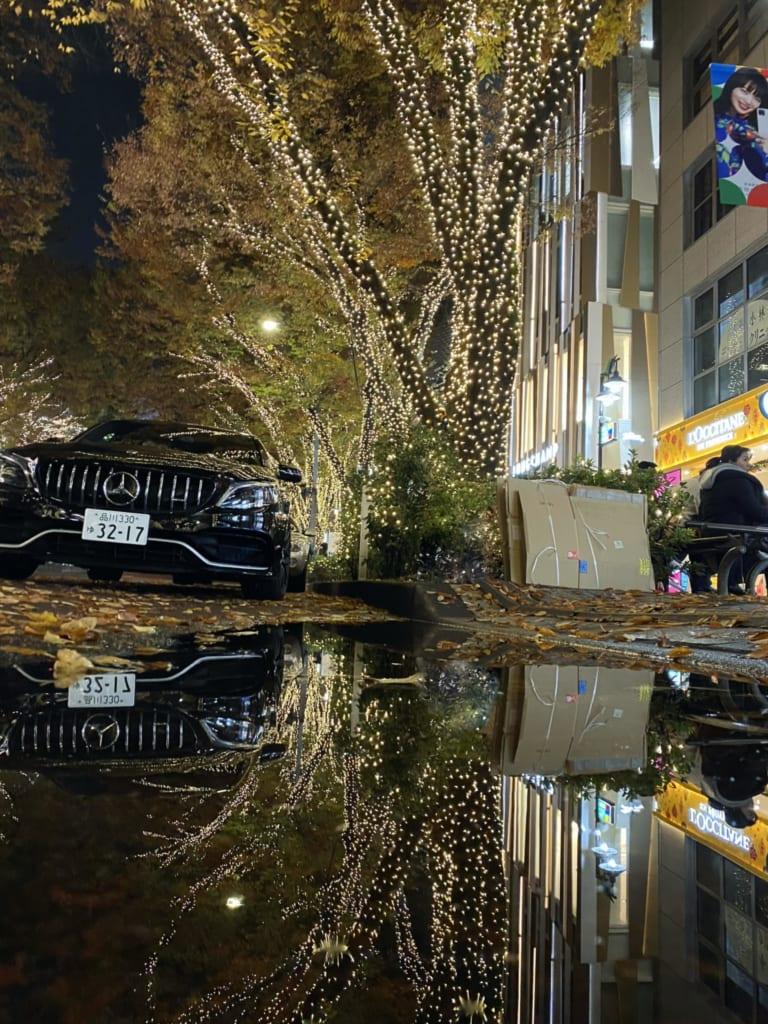 Luces en Omotesando, Tokio, Japón