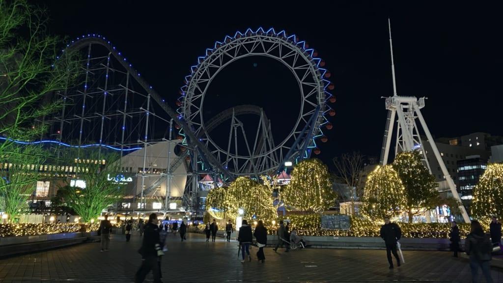 Luces en Tokyo Dome, Tokio, Japón