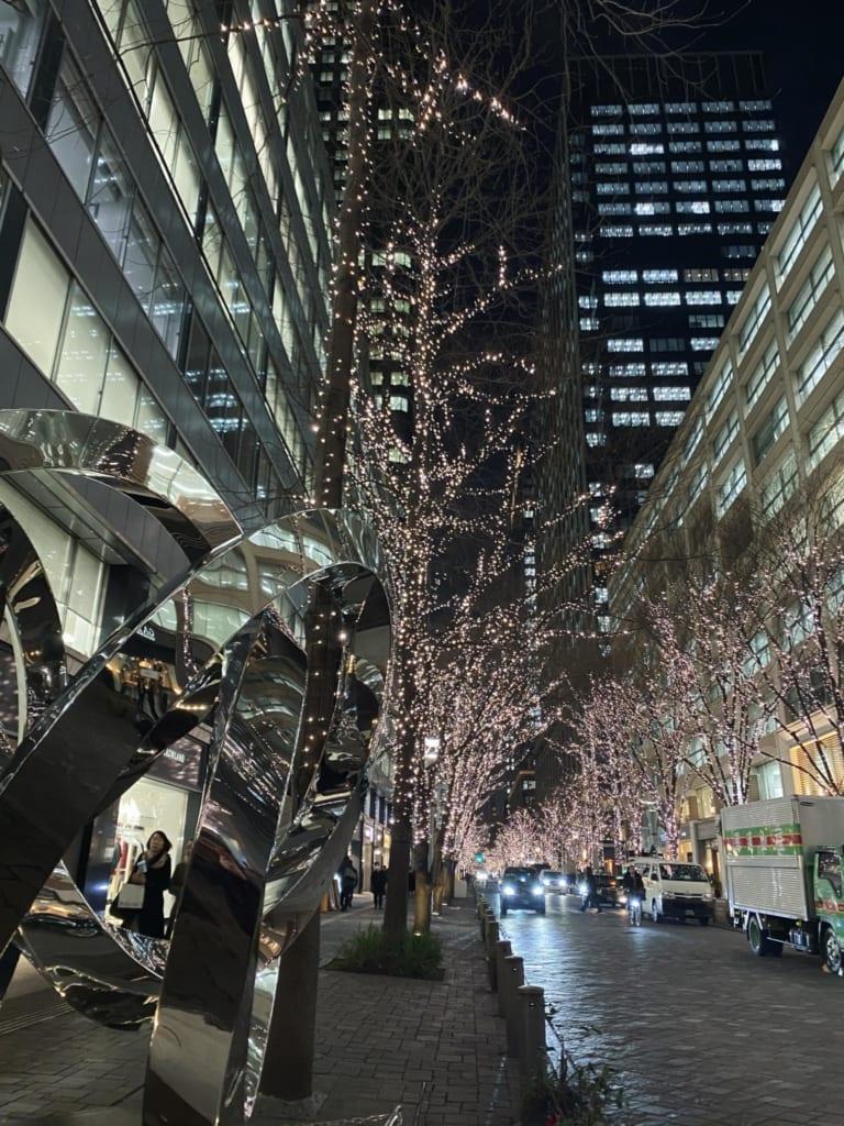 Luces en Marunouchi, Tokio, Japón
