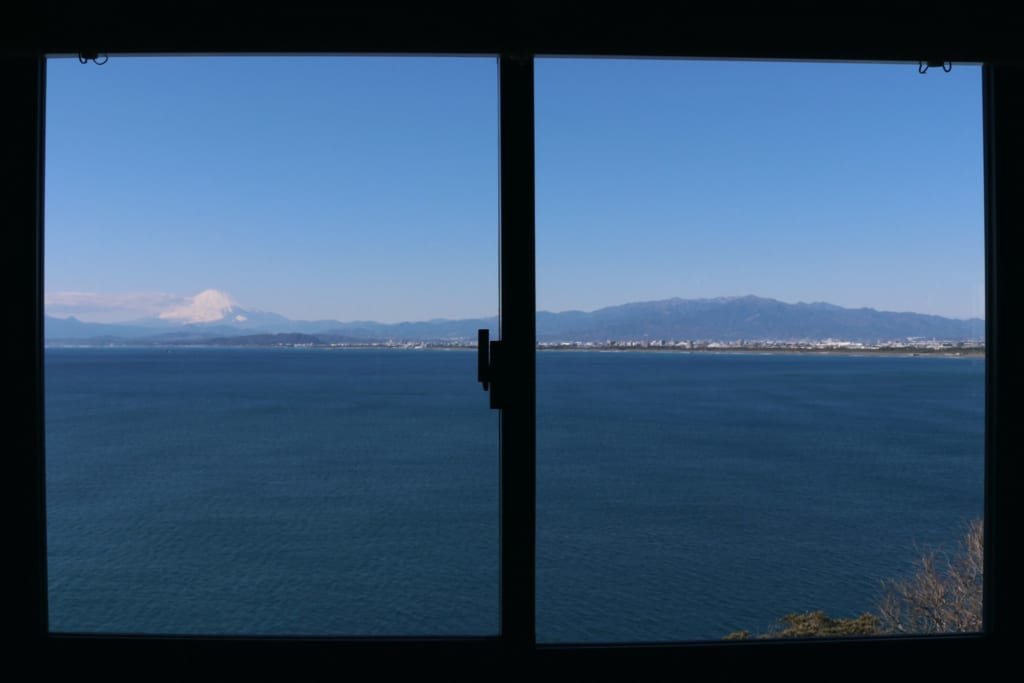 Vistas del Monte Fuji desde Uomitei, Enoshima, Fujisawa, Kanagawa, Japón