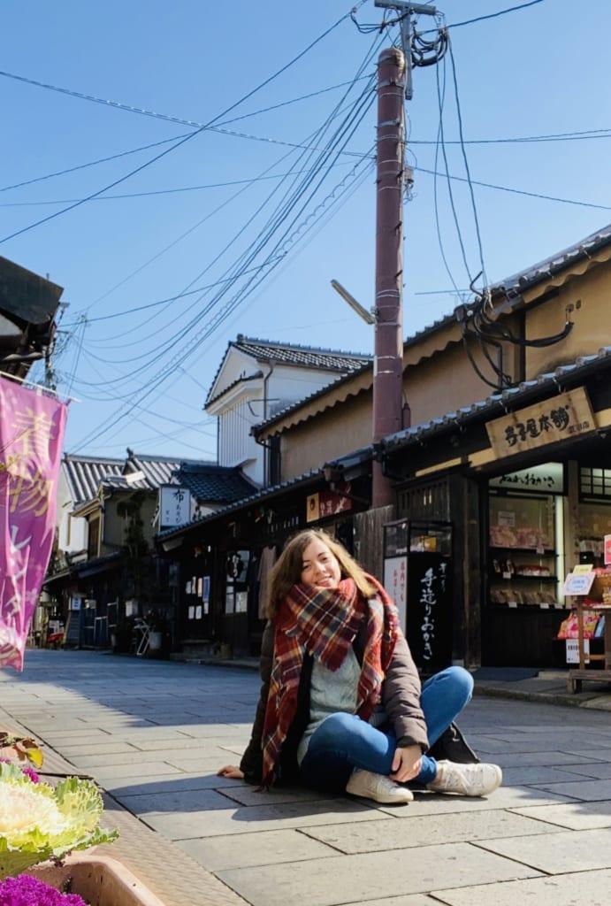 Explorando las calles de Mameda Town, Hita, Oita, Japón