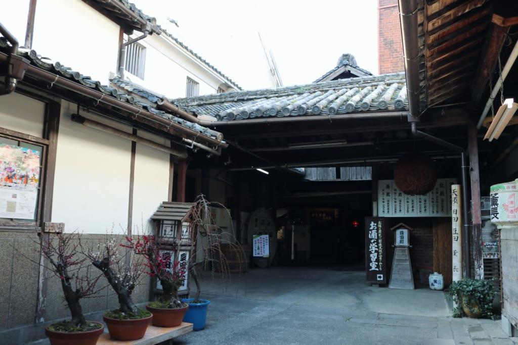 Antigua fábrica de sake en Mameda Town, Hita, Oita, Japón